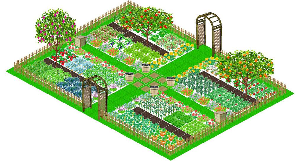 Une bonne organisation pour un potager r ussi blog oleomac for Conception de jardin gratuit