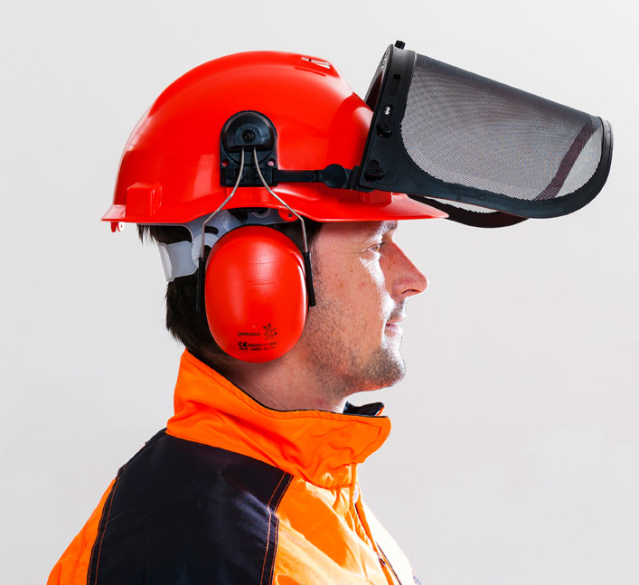 casque avec visière et oreillettes Oleo-Mac