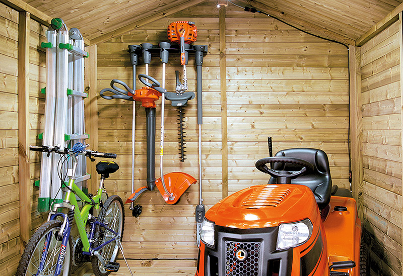 rangement outils jardin
