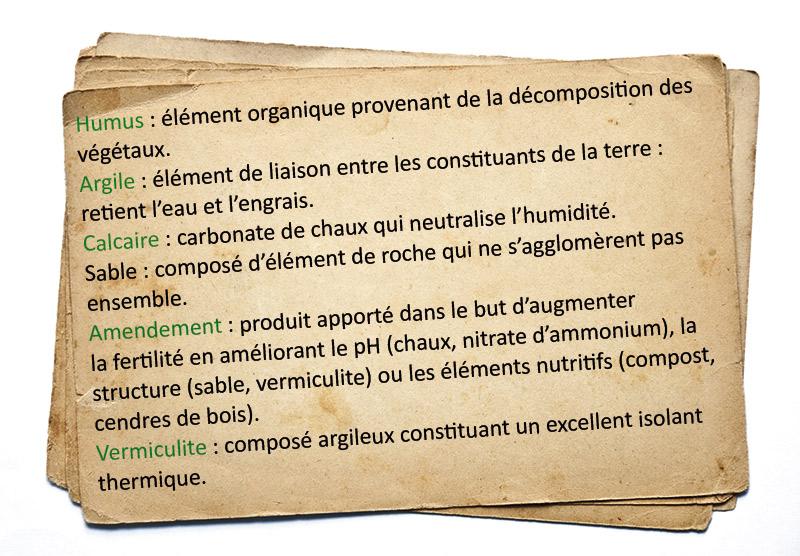 Glossaire du jardinier