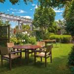 Cuisine de jardin en teck et métal
