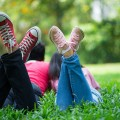 detente jardin pied herbe