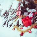 Noel neige arbre cadeau