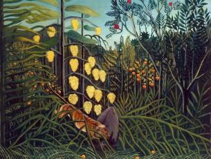 Henri Rousseau Combat Tigre Buffle
