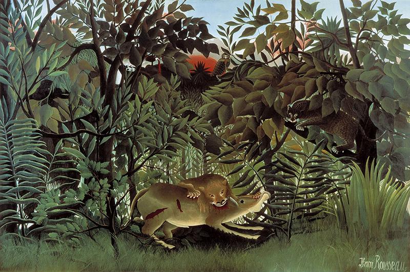 Rousseau Lion Antilope