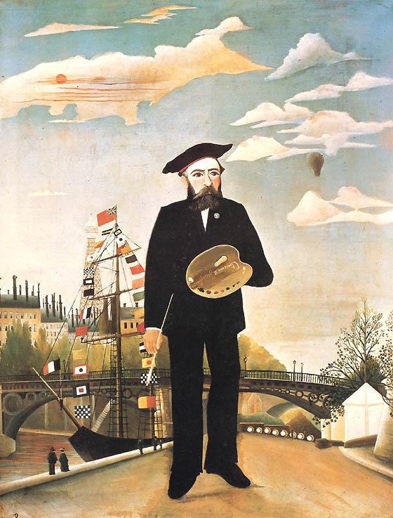 Henri Rousseau autoportrait