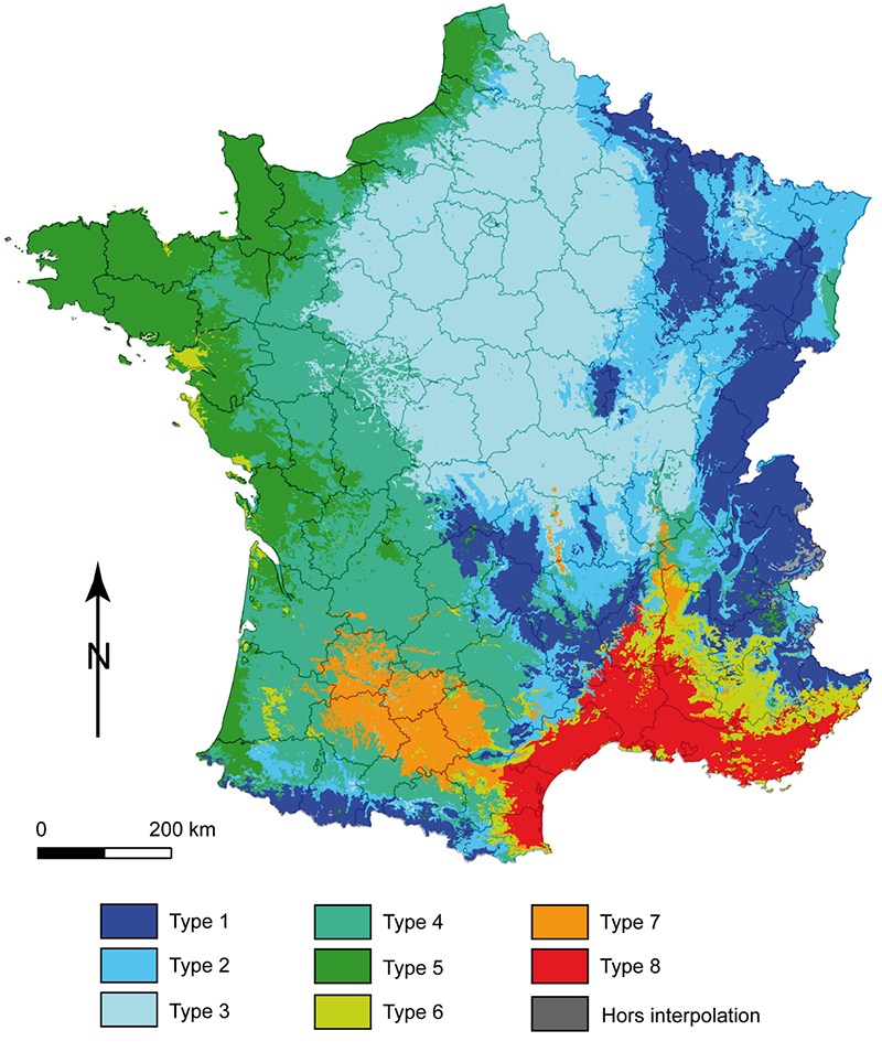 carte climat France @CNRS Image source http://cybergeo.revues.org/docannexe/image/23155/img-4.png