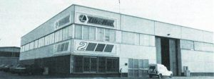 La première usine Oleo-Mac en 1972