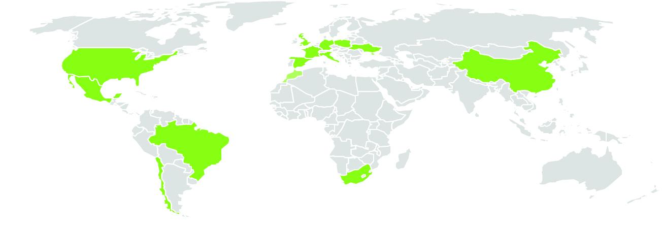 carte du monde Emak