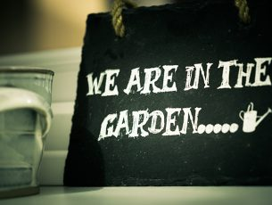 We are in the garden