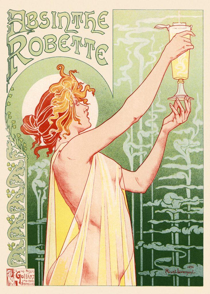 Absinthe Robette par Henri Privat-Livemont